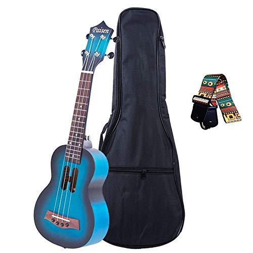 Paisen 21-Zoll-süße blaue Sopran-Ukulele für Anfänger und Kinder mit dick gepolsterter...