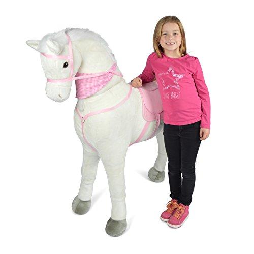 Pink Papaya Giant Riesen XXL Kinderpferd, Luna, 125 cm Plüsch-Pferd zum reiten, Fast lebensgroßes...