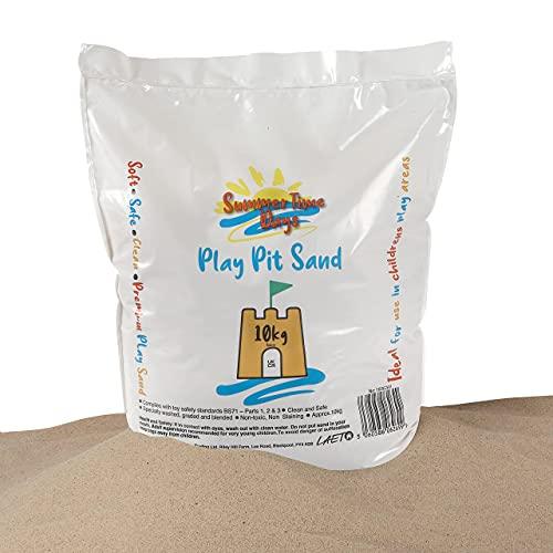 Laeto Summertime Days Kinder-Spielsand, 10 kg Beutel, für Kinder, ungiftig, weich, ideal zum Spielen in...