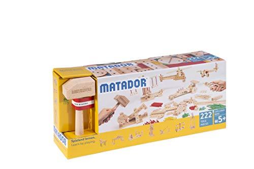 Matador E222 Baukasten, holzfarben, bunt