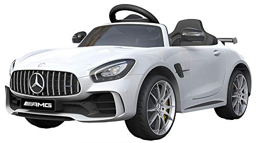 Shov Mercedes Benz GTR AMG Kinderauto Elektroauto Kinderfahrzeug 12V (Weiss)