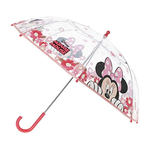 Minnie Mouse Regenschirm, manuell, transparent, 42 cm