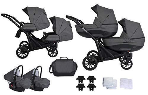 KUNERT BOOSTER 3in1 Kinderwagen Komplettset Zwillingskinderwagen Babywagen Baby 3 in 1 Kombikinderwagen...