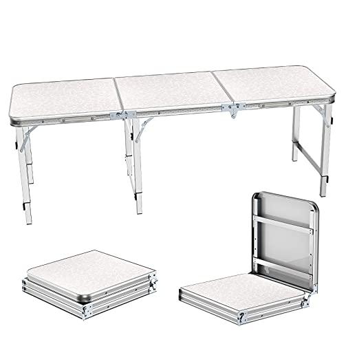 Campingtisch Klapptisch 1,8m Stühlen Tragbare Einstellbare Höhe Picknick Esstisch Barbecue Gartentisch...