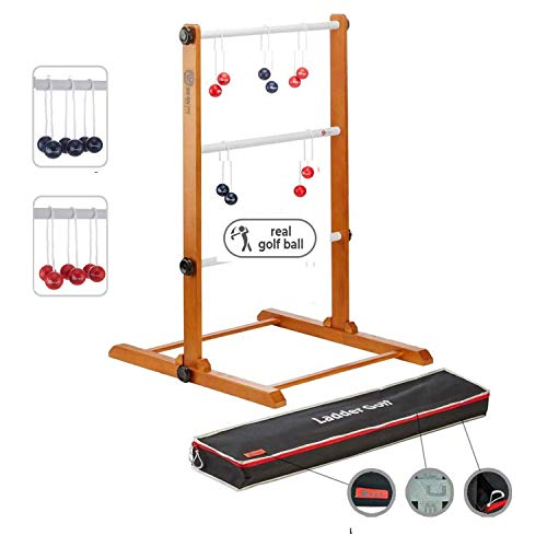 Original 2021 Leitergolf Spiel - Top Qualität Leiterspiel Wurfspiel - mit offizielle Golf Bolas (Rot und...