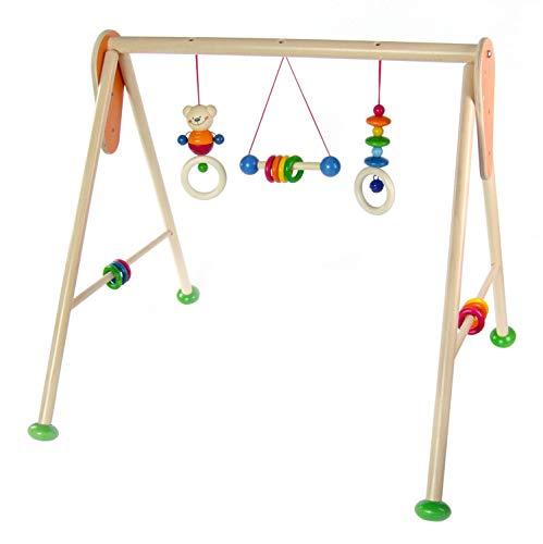 Hess Holzspielzeug 13371 - Spielgerät aus Holz, Serie Bär Henry, für Babys, handgefertigter Spielbogen...