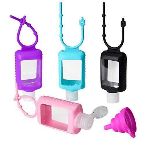 Tragbare Reiseflaschen Set für Kinder,Auslaufsichere Silikon Nachfüllbare Reiseflaschen für Schule,...