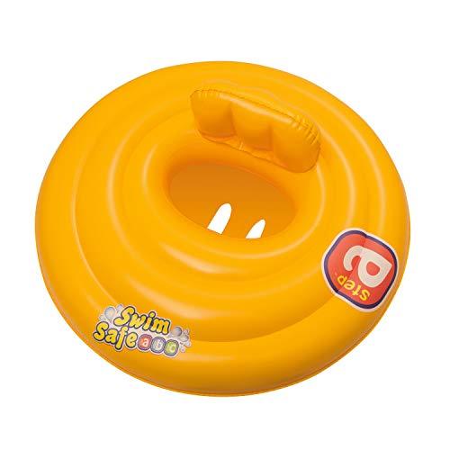 Bestway 32096 swimring 20945-Baby Schwimmsitz Swim Safe Step A, 0-1 Jahr, bunt, 65 cm diam