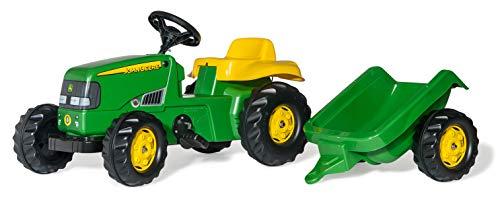 Rolly Toys 012190 - rollyKid John Deere (mit Anhänger, Drehschemellenkung, Alter 2,5 - 5 Jahre,...