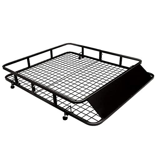 COSTWAY Dachgepäckträger Universal Dachkorb aus Stahl, Auto Gepäckträger bis 75kg belastbar,...