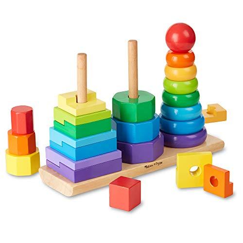 Melissa&Doug geometrischer Stapler | entwicklungsförderndes Spielzeug | motorische Fähigkeiten |...