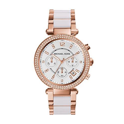 Michael Kors Damen Chronograph Quarz Uhr mit Edelstahl Armband MK5774