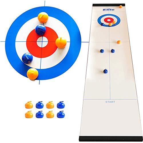 YYL Schnelles Sling Puck Spiel Tisch-Curling-Spiel Tischplatte Kompaktes Brettspiel mit 8 Rollen für...