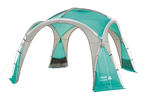 Coleman Event Dome Pavillon stabiles Partyzelt mit Stahlgestänge Sonnenschutz SPF 50 plus, blau, XL,...