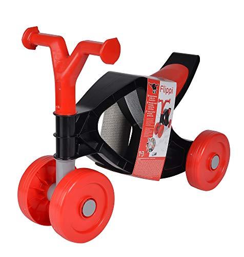 BIG - Flippi - Laufrad in rot und dunkel-grau, Rutschrad mit bis zu 25kg Tragkraft, handlich und...