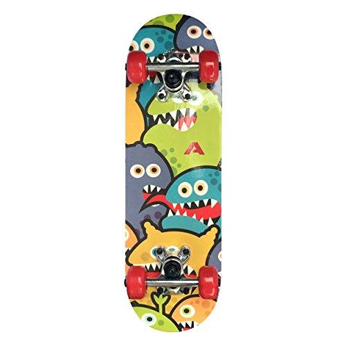 Apollo Kinder Skateboard, kleines Komplett Board mit ABEC 3 Kugellagern und Aluminium Achsen - Holzboard...