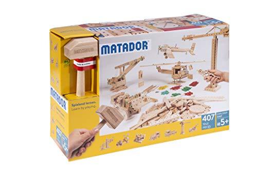 Matador E407 Baukasten, holzfarben, bunt