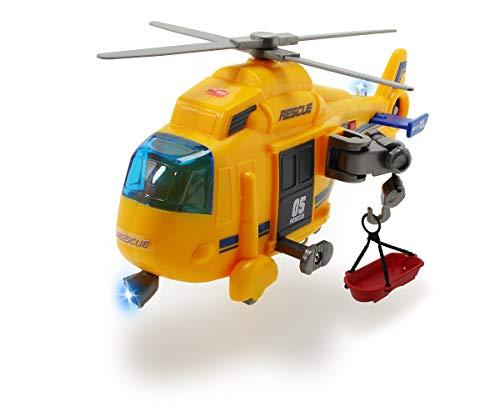 Dickie Toys Rettungshelikopter, Spielzeug-Helikopter, manuelle Seilwinde, drehender Rotor inkl. Trage,...
