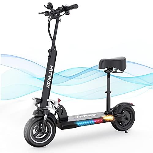 HITWAY Elektro Scooter, E-Roller mit Sitz (800W, 43km / h, max. 40 km, Faltbarer Elektroroller mit...