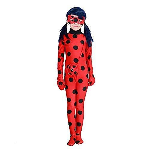 Ladybug Marienkäfer Kostüm für Mädchen   3-teilig: Overall, Maske, Tasche   rot mit schwarzen Punkten...