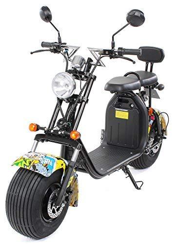 eFlux Chopper Two Elektro Scooter 1500 Watt 60 Volt 20AH mit Straßenzulassung 35 Kilometer Reichweite...