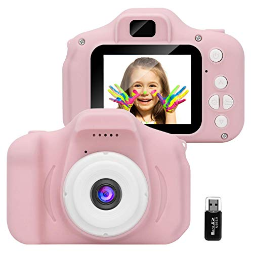 GlobalCrown Kinder Kamera,Mini wiederaufladbare Kinder Digitalkamera Stoßfeste Video Camcorder Geschenke...