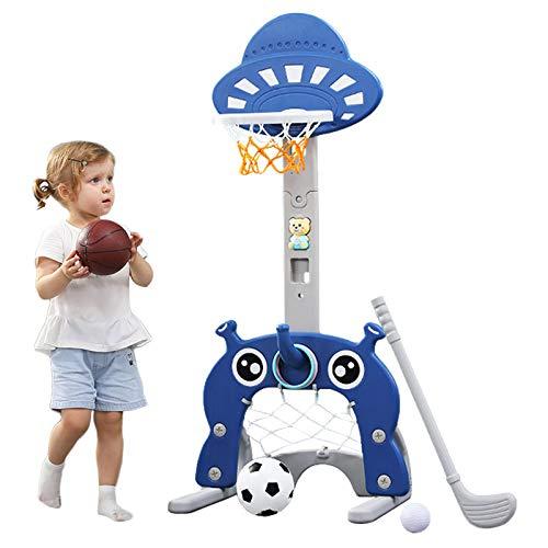 Basketballkorb für Kinder 5 in 1 Sport-Aktivitätszentrum Grow-to-Pro Einstellbare Easy Score...