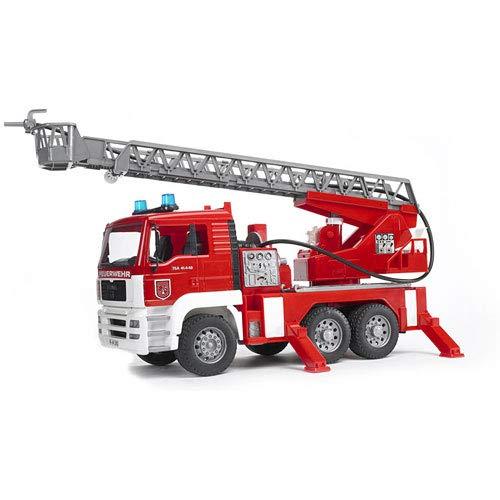 Bruder - MAN Feuerwehr mit Drehleiter, Wasserpumpe und Light & Sound-Modul