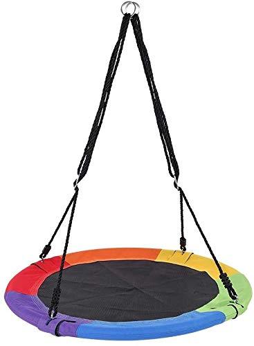 anagre Nestschaukel rund für den Garten, bis 150 kg, geschlossener Ø100cm (Multicolor)