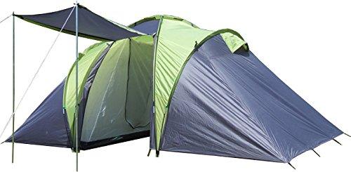EXPLORER Zelt Sierra 4 Familienzelt mit 2 Schlafkabinen 420(140x140x140)x210x180cm 2+2 Personen 3000mm...