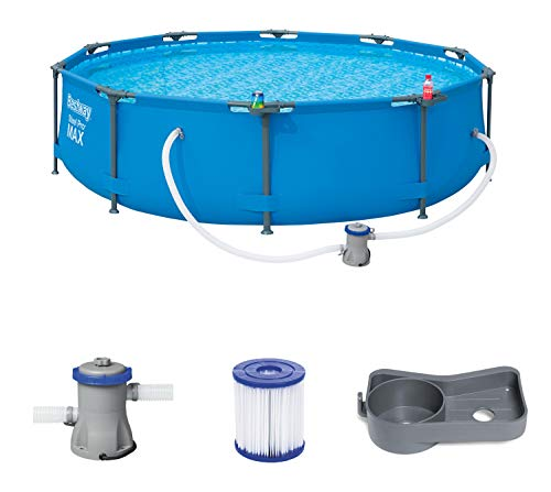 Bestway Steel Pro MAX 305x305x76 cm, Frame Pool rund mit stabilem Stahlrahmen