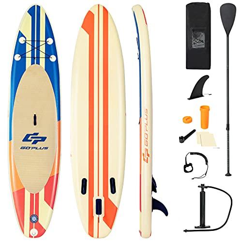 COSTWAY 320/335 x 76 x 15cm Stand Up Paddling Board, SUP Board aufblasbar, Paddelboard mit...