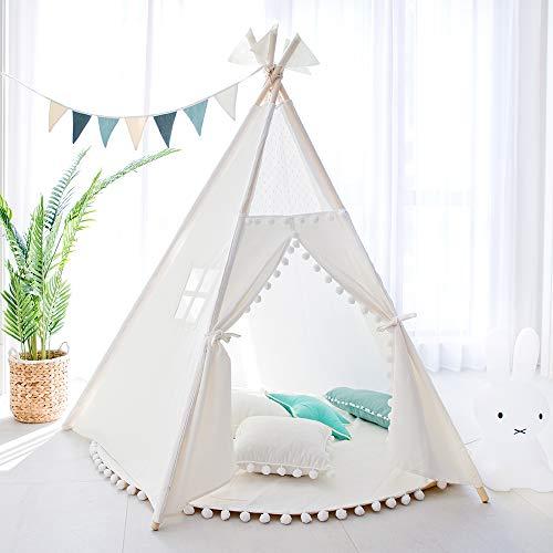 TreeBud Kinder Tipi Spielzelt Indoor Outdoor Fünf Pole Indische Zelte Kleinkinder Jungen Mädchen...
