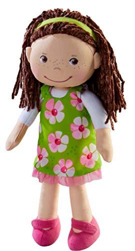 HABA 303666 - Puppe Coco | Stoffpuppe zum Spielen und Kuscheln | Puppe aus weichen, waschbaren...