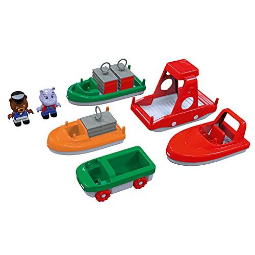 AquaPlay 8700000261 - BoatSet - Zubehör für AquaPlay Wasserbahnen oder für die Badewanne, 4 Booten, 1...