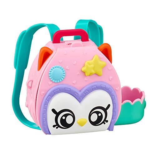 Kindi Kids Unisex N/A Owl Petkin Rucksack und 3 Shopkins, Multicolor, One Size