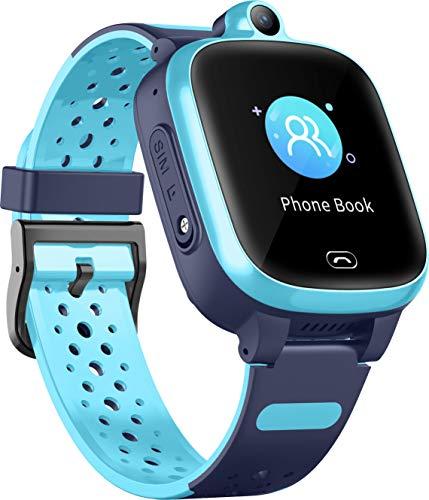 4G Smart Watch für Kinder - GPS-Smartwatch mit Wasserdichter Echtzeit-Position WIFI-Videoanrufnachricht...
