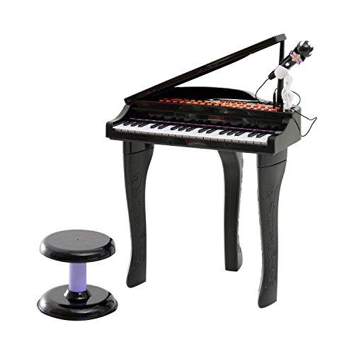 HOMCOM Kinder Klavier Mini-Klavier Piano Keyboard Musikinstrument MP3 USB inkl. Hocker 37/32 Tasten...
