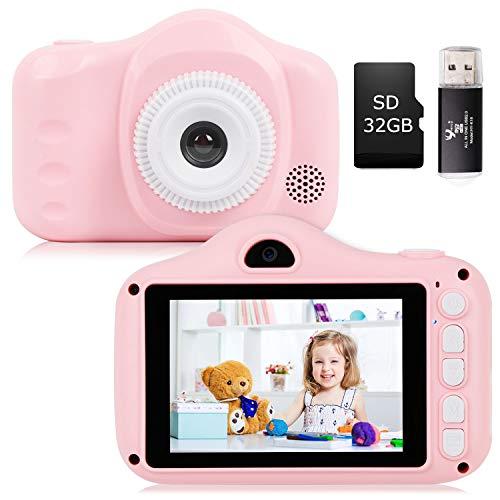 YUNKE Kinderkamera, Kamera für Kinder, Digitale Kinderkameras mit 3,5-Zoll-Bildschirm 8,0 MP 1080P...