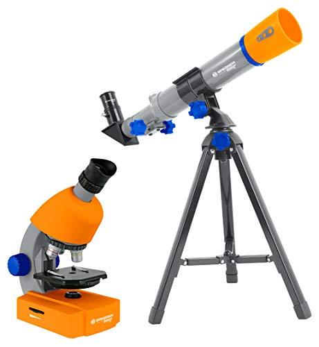 Bresser Junior Mikroskop & Teleskop Set mit Mikroskop 40x-640x Vergrößerung und 40/400mm Teleskop für...
