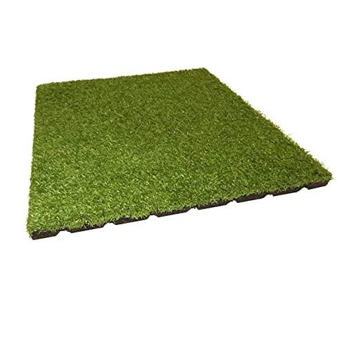 Fallschutzmatte 50x50 cm 25 mm Teppichplatte mit Kunstrasen von Gartenpirat®