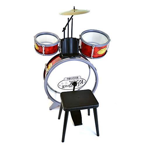 Bontempi 51 4504 Schlagzeug: Baßtrommel Ø 385 mm mit Pedal. 2 kleine Trommeln Ø 170 Becken Ø 210 mm....
