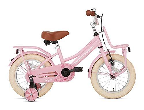 POPAL SuperSuper Cooper Kinder Fahrrad für Kinder | Mädchen Fahrrad 14 Zoll ab 3-5 Jahre| Kinderrad met...