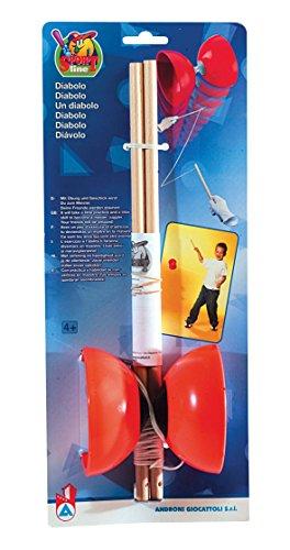 Simba 70500 107303769 - Diabolo Kunststoff m. Holzstäben, es wird nur ein Artikel geliefert, Schnur...