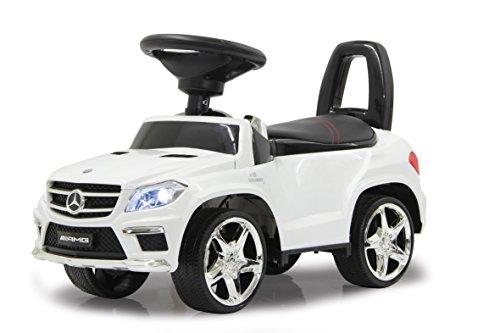 Jamara 460241 - Rutscher Mercedes GL63AMG weiß – Kippschutz, Kunstledersitz mit roten Ziernähten,...