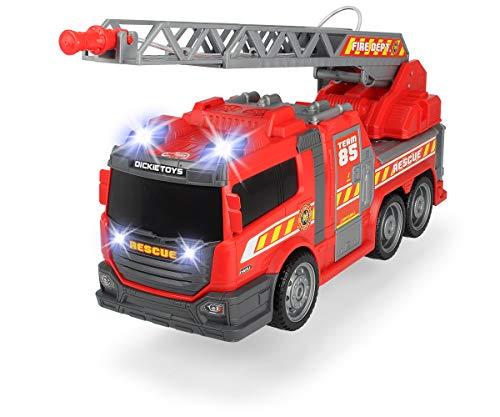 Dickie Toys Fire Fighter, Feuerwehrauto, Spielzeugauto, Feuerwehr, mit Wasserspritzfunktion, Leiter,...