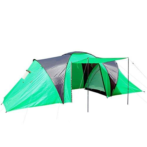 Campingzelt Loksa, 6-Mann Zelt Kuppelzelt Igluzelt Festival-Zelt, 6 Personen - grün