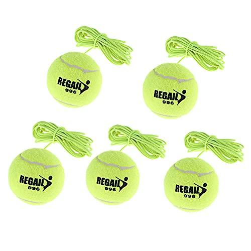 Schneespitze 5Pcs Tennisball mit Schnur,ElastischerTennisball,Trainingsball mit Schnur,Twistball...