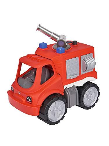 BIG - Power-Worker Feuerwehr Löschwagen - großes Spielzeug Auto mit Wasserspritze, Reifen aus...