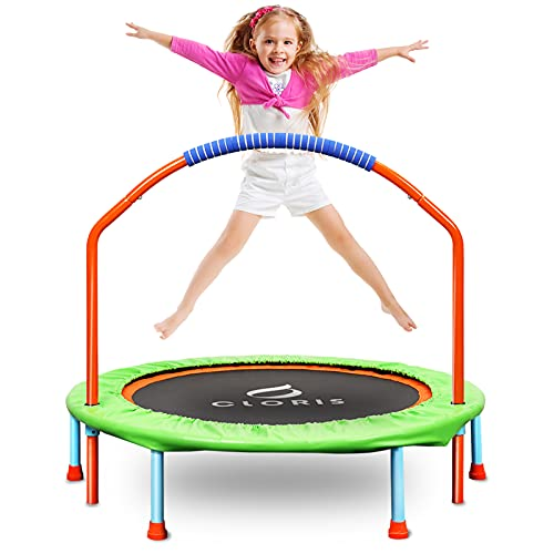 CLORIS Mini-Trampolin für Kinder, 96,5 cm, tragbares Rebounder-Trampolin für Kleinkinder, mit...
